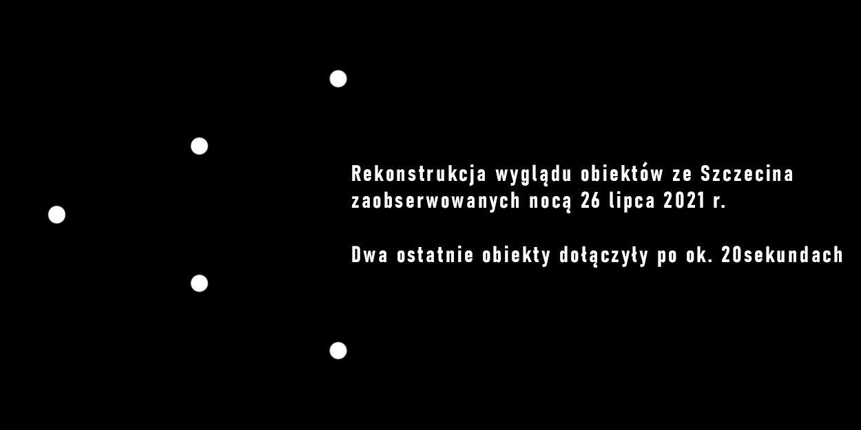 Eskadra pięciu obiektów świetlnych nad Szczecinem